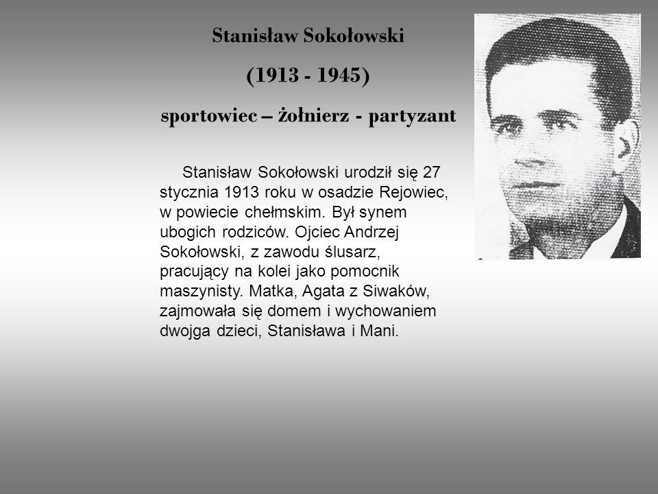 sportowiec – żołnierz - partyzant