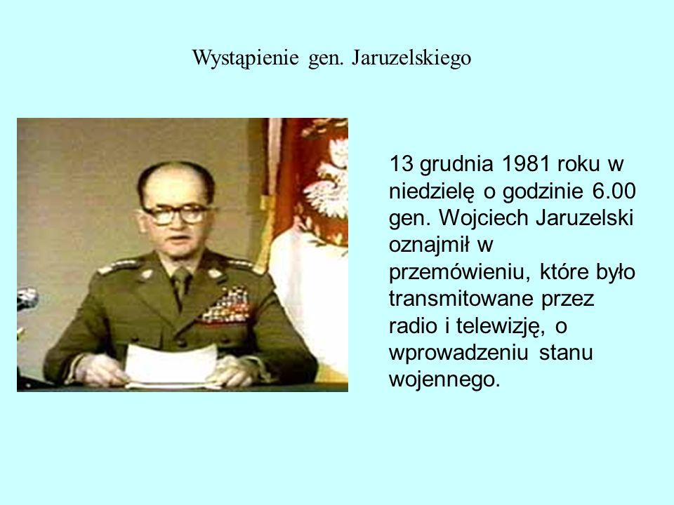 Wystąpienie gen. Jaruzelskiego