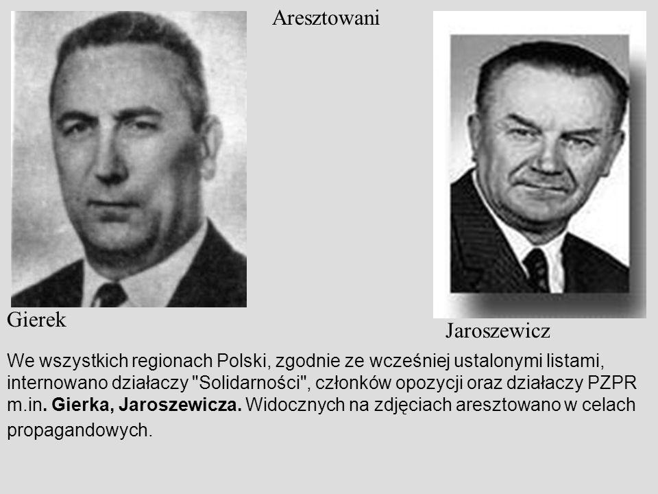 Aresztowani Gierek Jaroszewicz