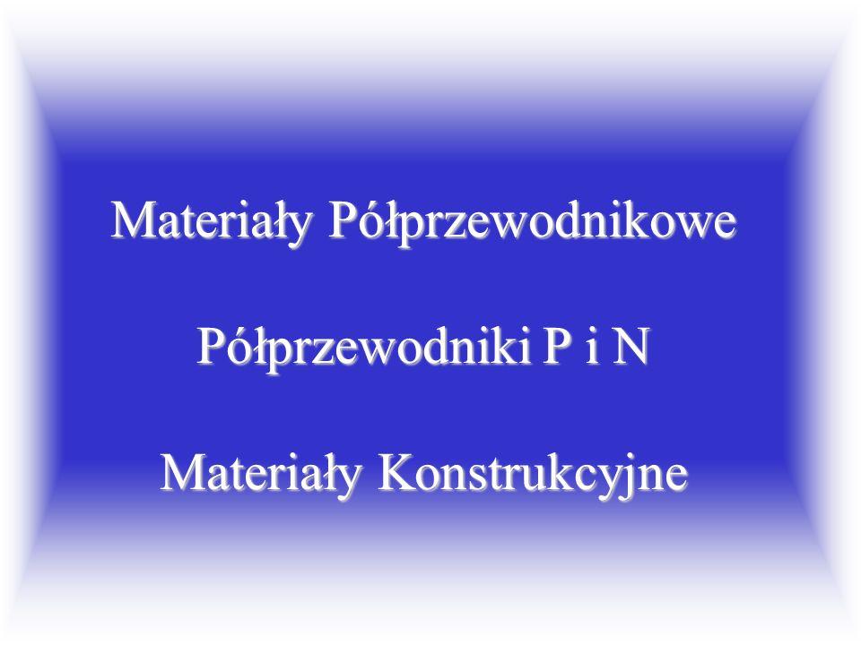 Materiały Półprzewodnikowe Półprzewodniki P i N Materiały Konstrukcyjne