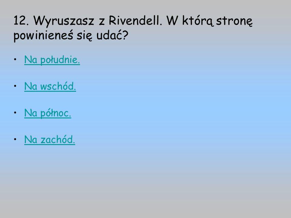 12. Wyruszasz z Rivendell. W którą stronę powinieneś się udać