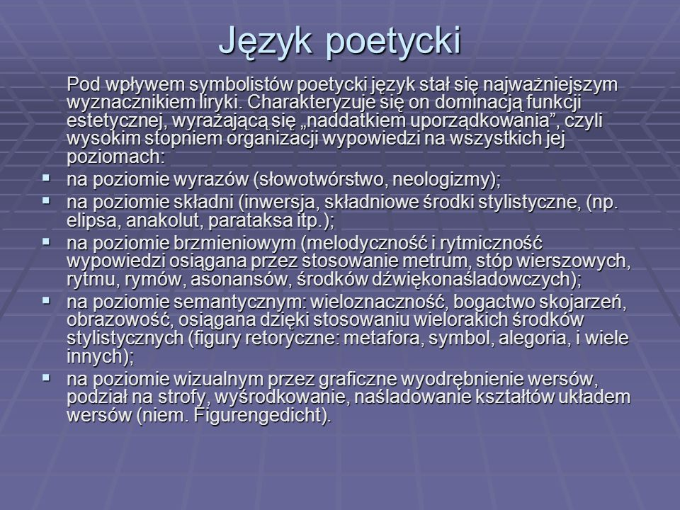Język poetycki