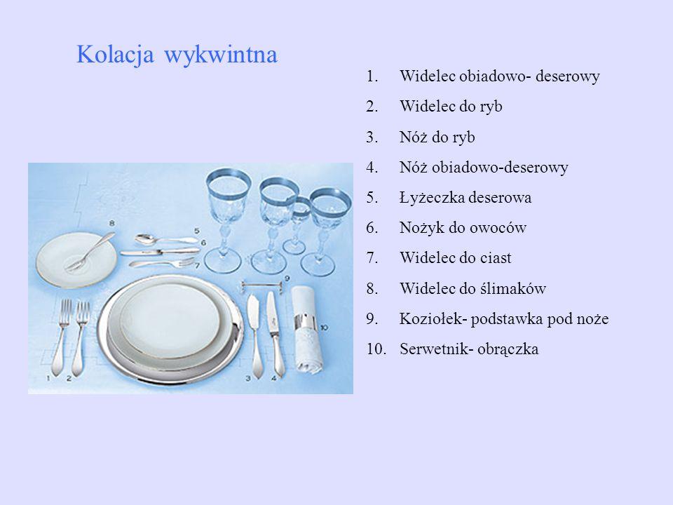 Kolacja wykwintna Widelec obiadowo- deserowy Widelec do ryb Nóż do ryb