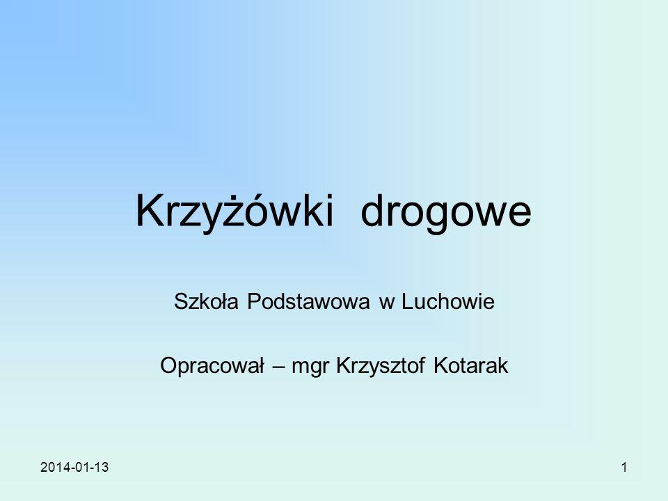 Szkoła Podstawowa w Luchowie Opracował – mgr Krzysztof Kotarak