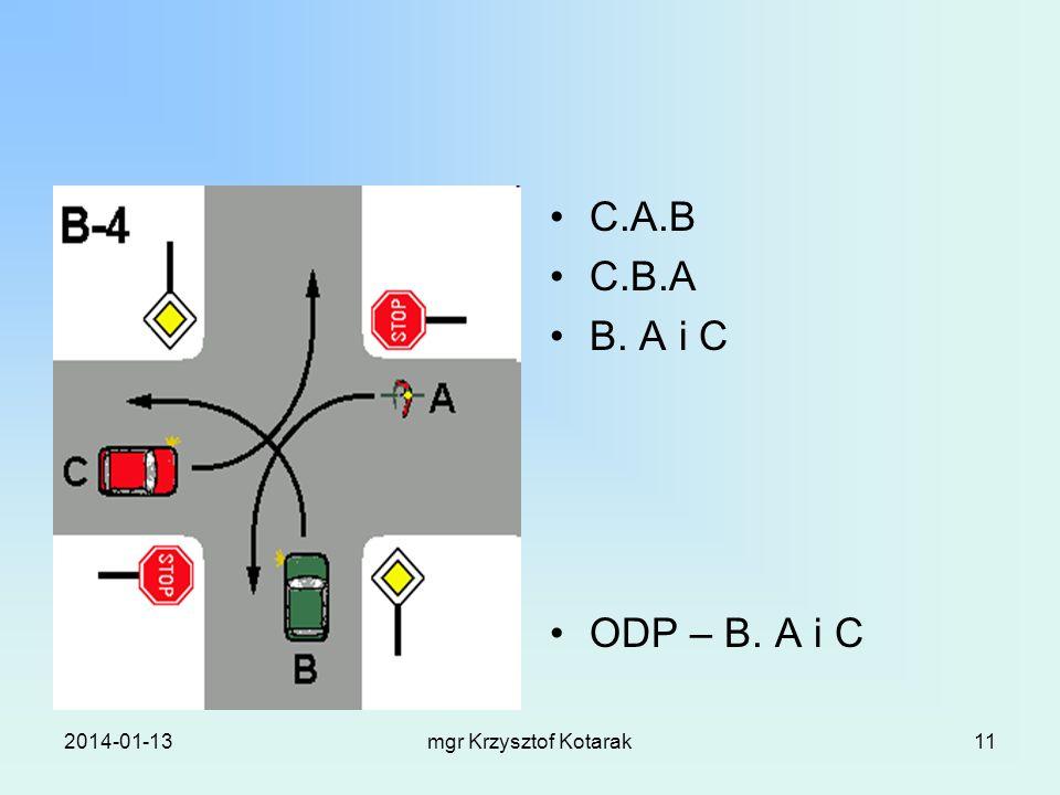 C.A.B C.B.A B. A i C ODP – B. A i C 2017-03-26 mgr Krzysztof Kotarak