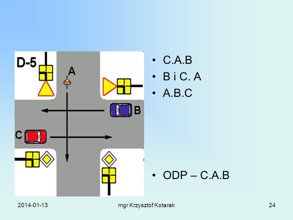 C.A.B B i C. A A.B.C ODP – C.A.B 2017-03-26 mgr Krzysztof Kotarak