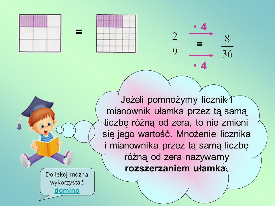 Do lekcji można wykorzystać domino