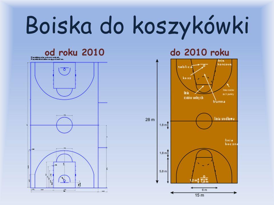Boiska do koszykówki od roku 2010 do 2010 roku