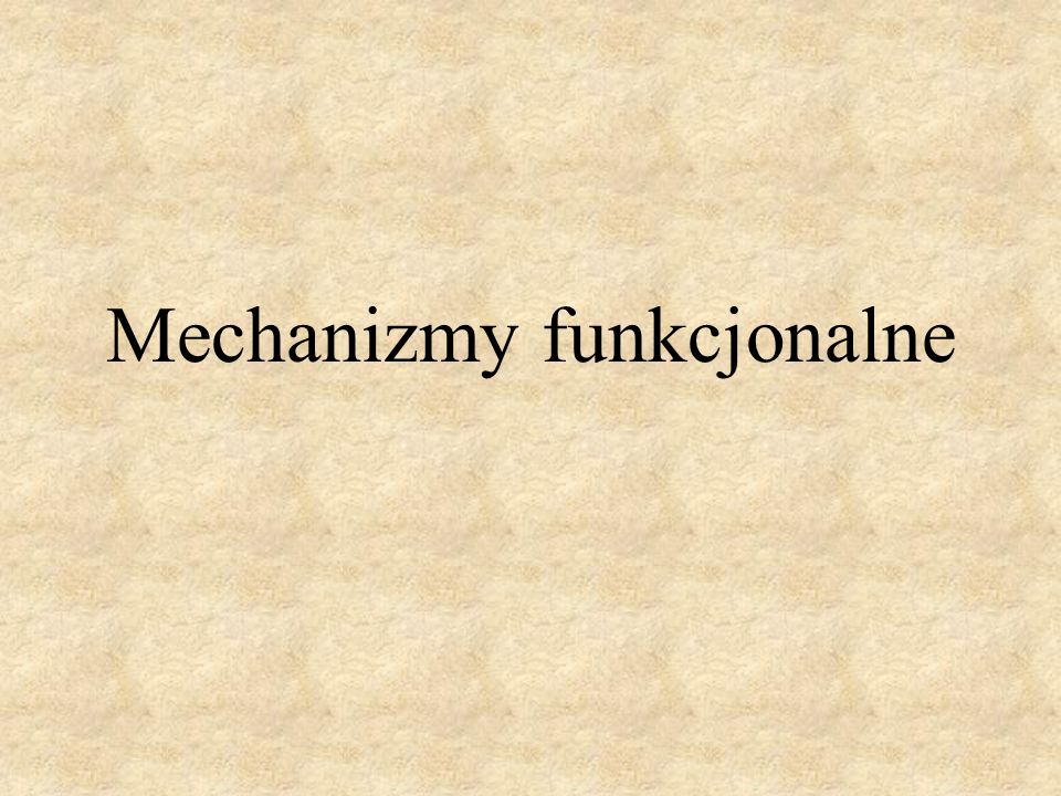 Mechanizmy funkcjonalne