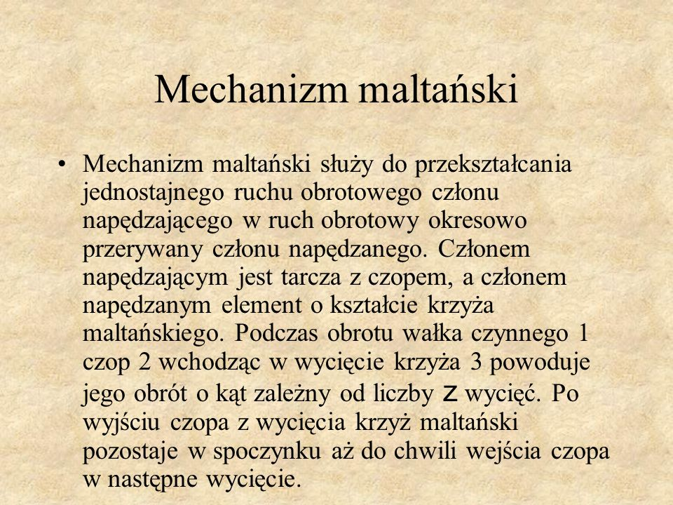 Mechanizm maltański