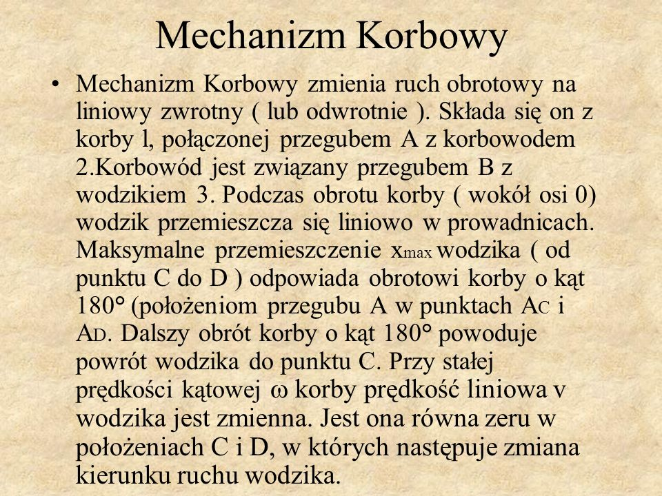 Mechanizm Korbowy