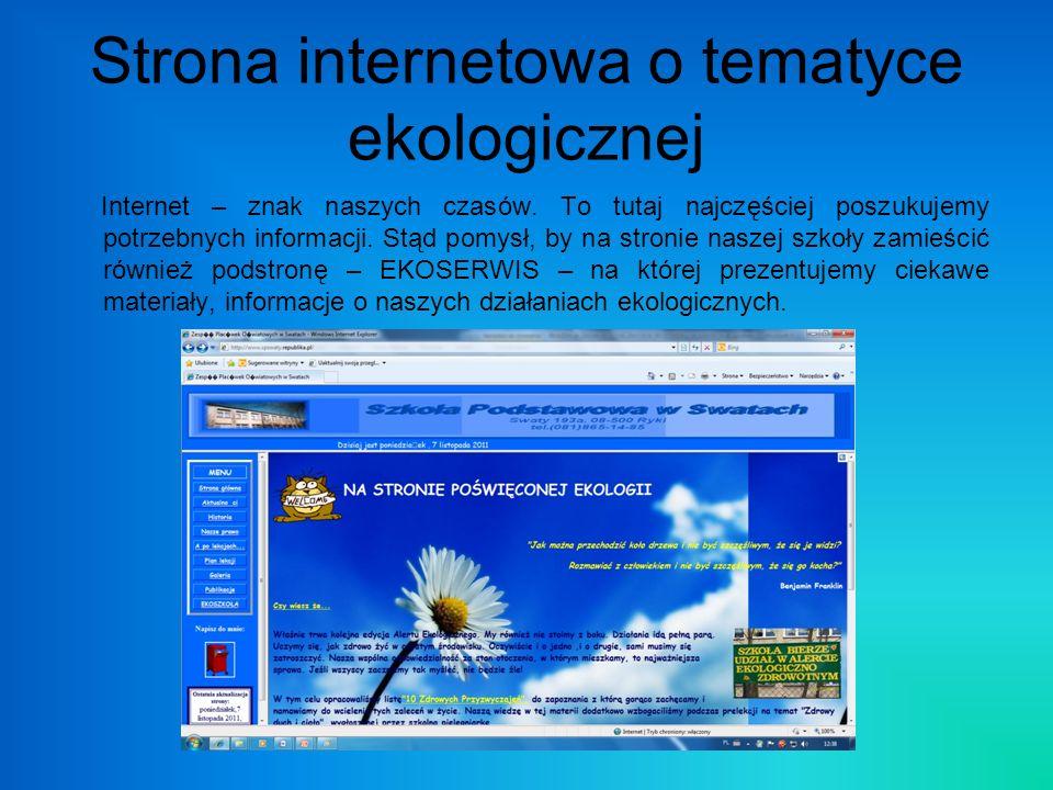 Strona internetowa o tematyce ekologicznej