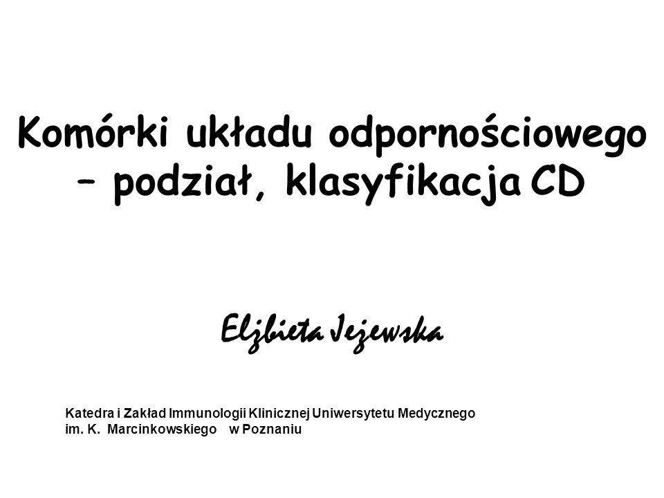 Komórki układu odpornościowego – podział, klasyfikacja CD