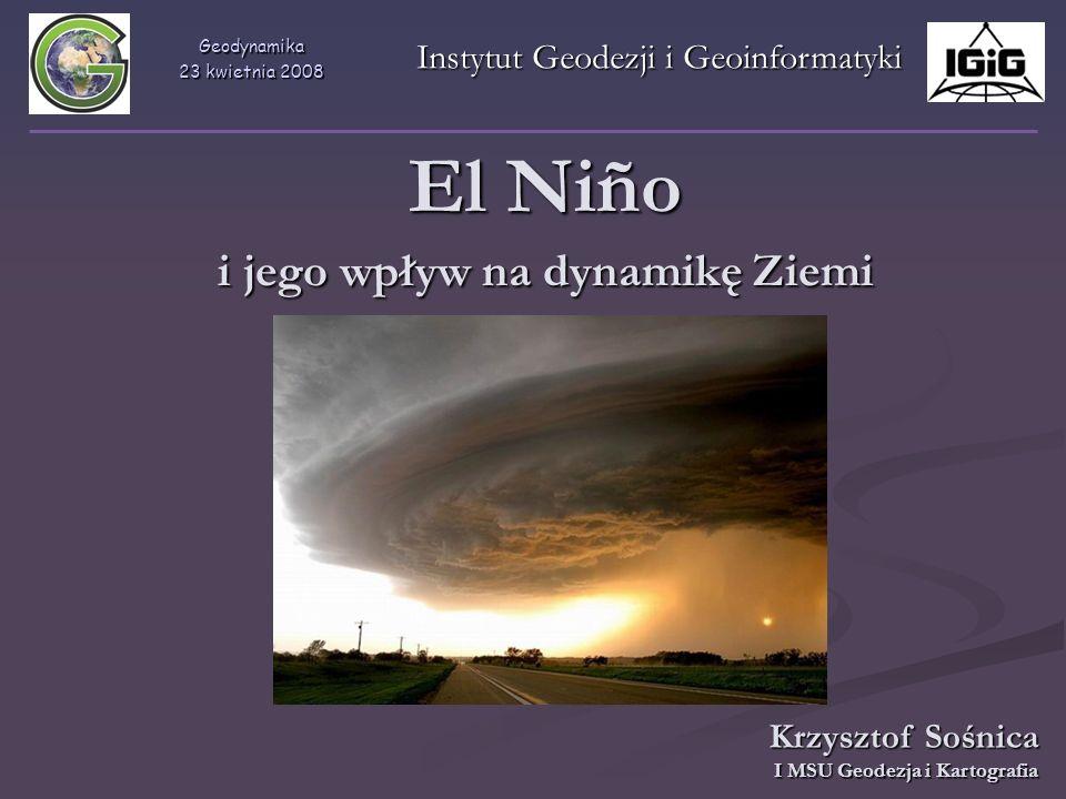 El Niño i jego wpływ na dynamikę Ziemi
