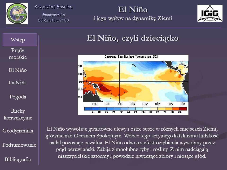 i jego wpływ na dynamikę Ziemi El Niño, czyli dzieciątko