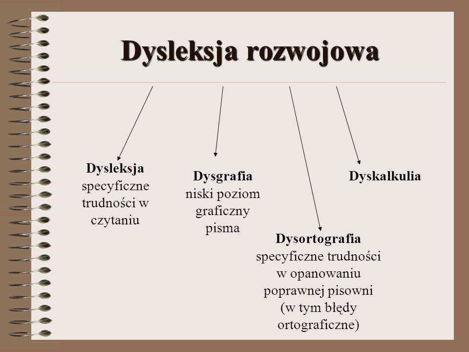 Dysleksja rozwojowa Dysleksja specyficzne trudności w czytaniu