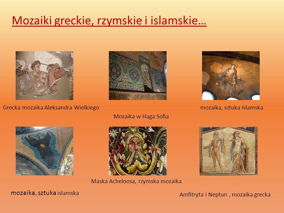 Mozaiki greckie, rzymskie i islamskie…