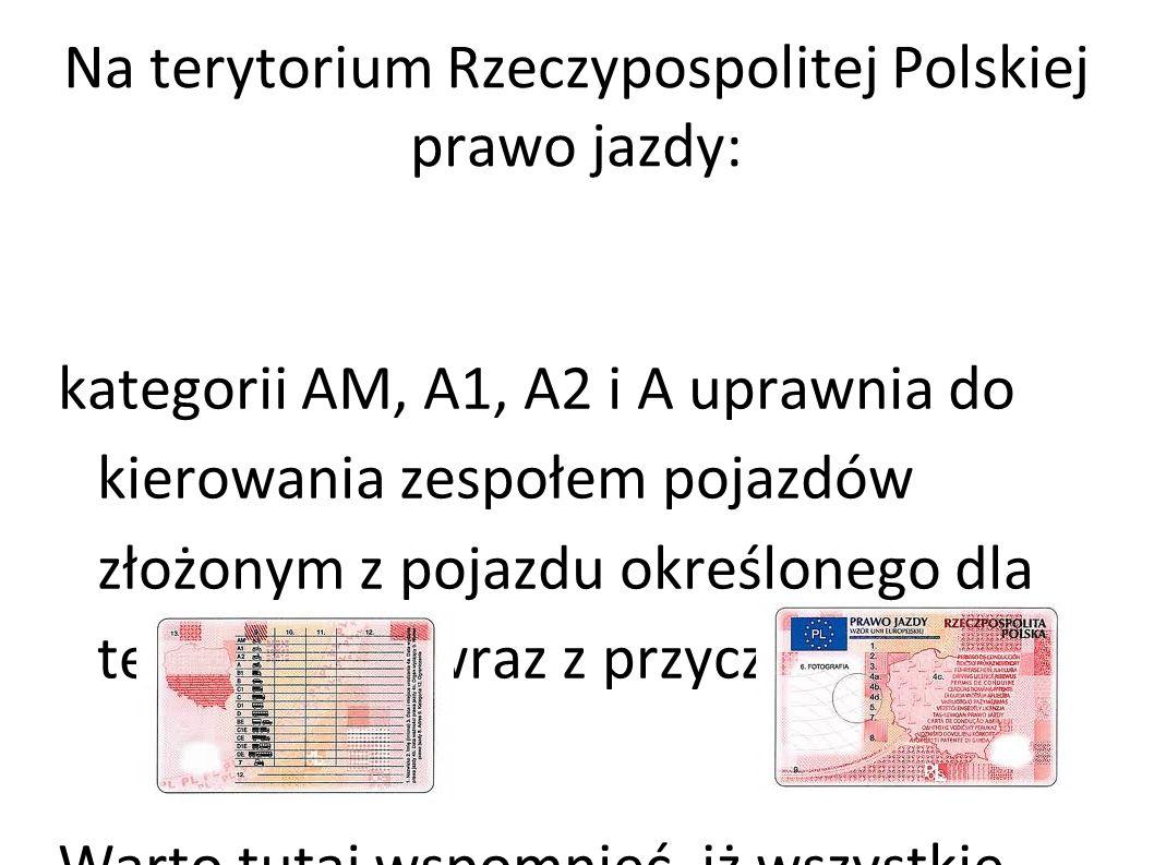 Na terytorium Rzeczypospolitej Polskiej prawo jazdy: