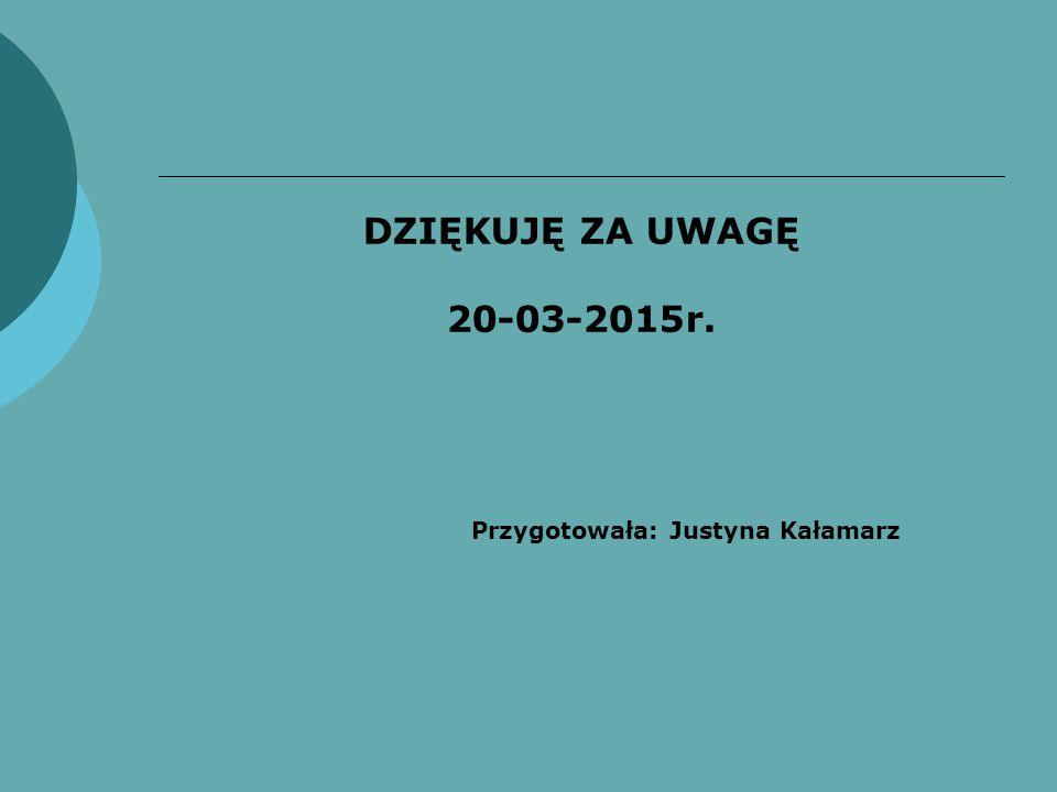Przygotowała: Justyna Kałamarz