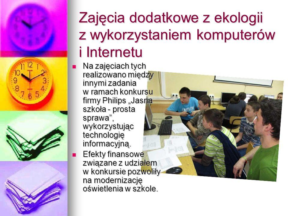Zajęcia dodatkowe z ekologii z wykorzystaniem komputerów i Internetu