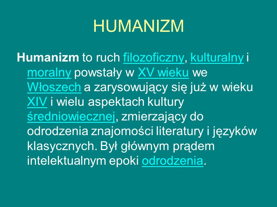 HUMANIZM