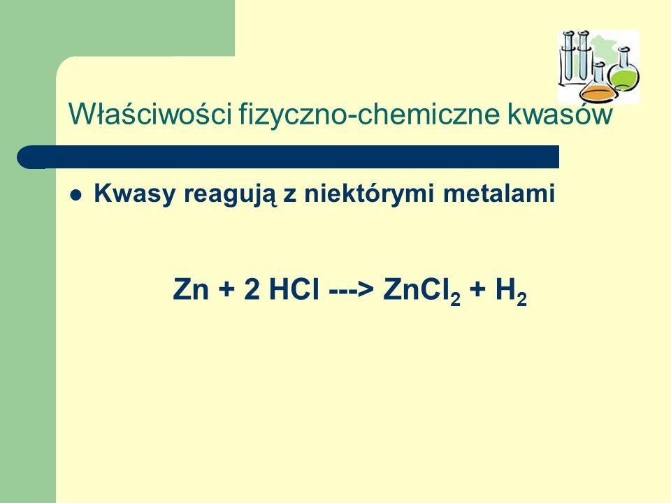 Właściwości fizyczno-chemiczne kwasów