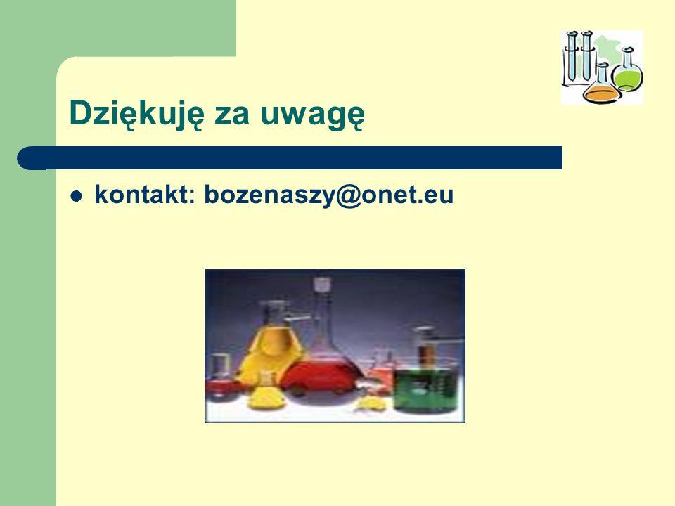 Dziękuję za uwagę kontakt: bozenaszy@onet.eu