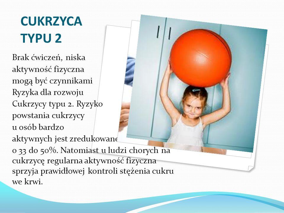 CUKRZYCA TYPU 2 Brak ćwiczeń, niska aktywność fizyczna