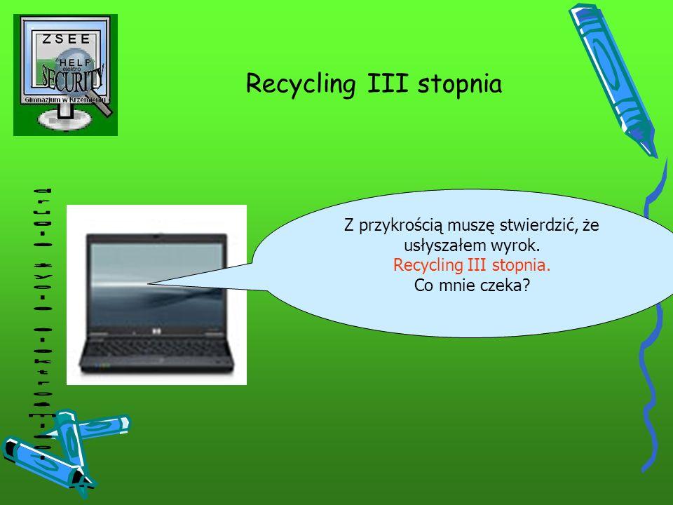 Recycling III stopnia drugie życie elektrośmieci