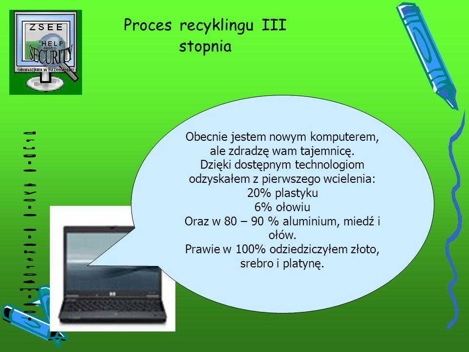 Proces recyklingu III stopnia