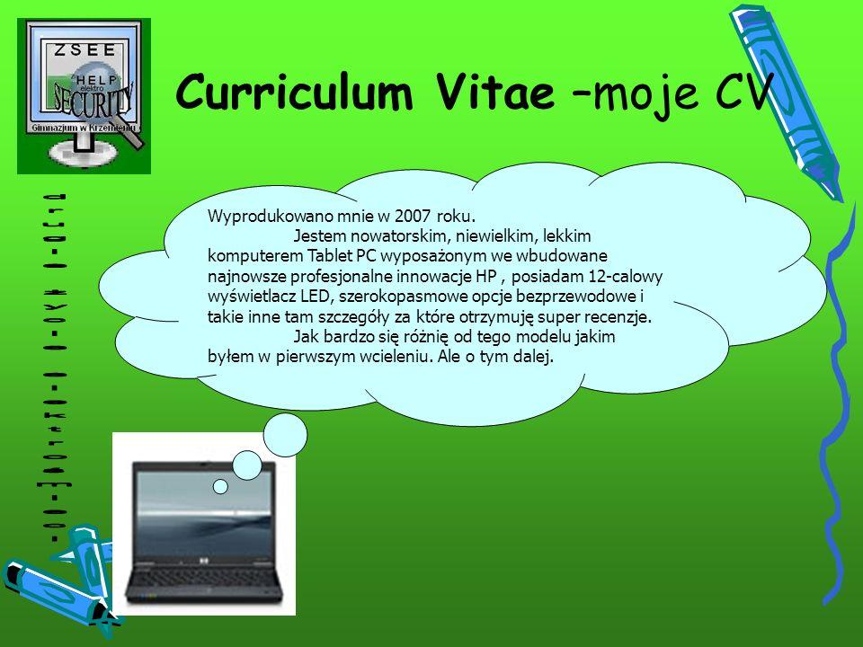 Curriculum Vitae –moje CV