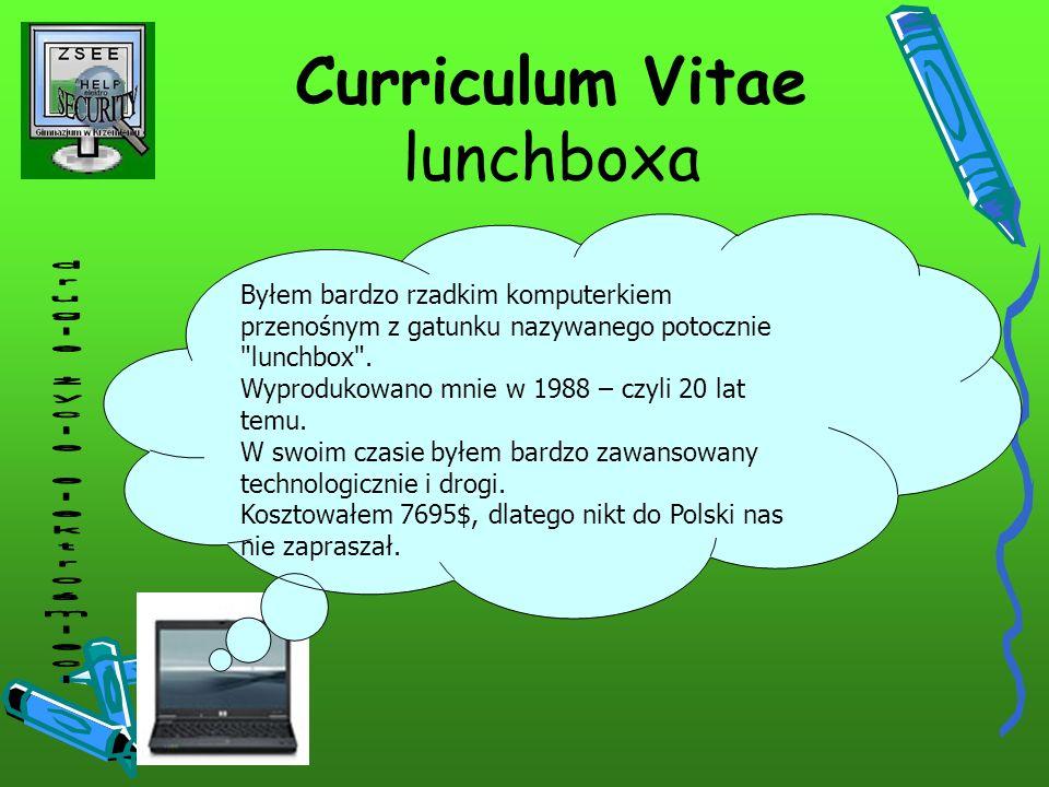 Curriculum Vitae lunchboxa