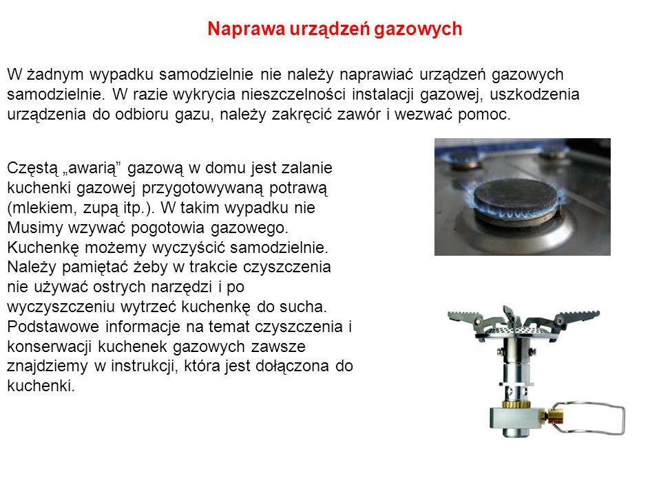 Naprawa urządzeń gazowych
