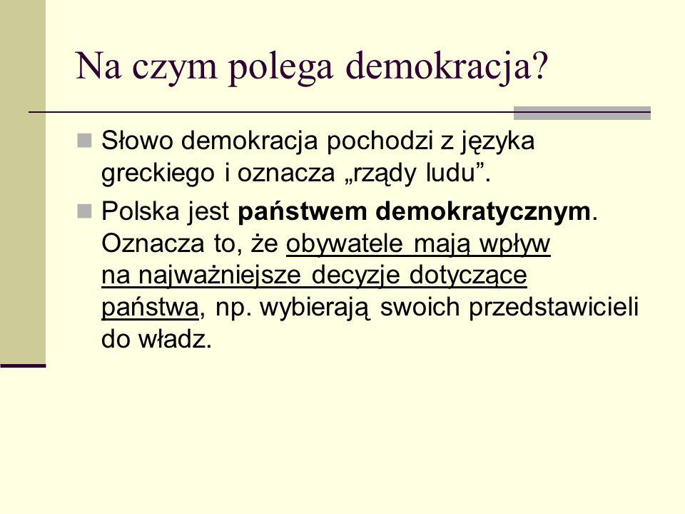 Na czym polega demokracja