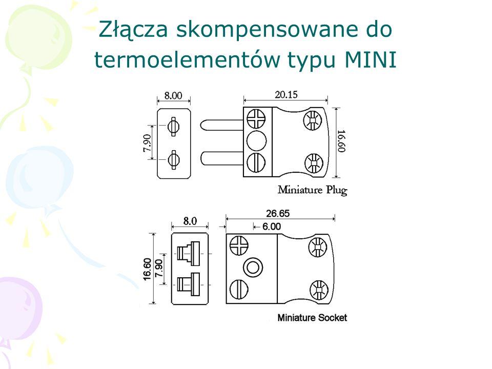 Złącza skompensowane do termoelementów typu MINI