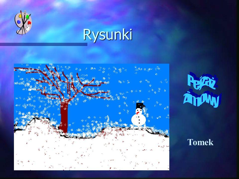 Rysunki Pejzaż zimowy Tomek