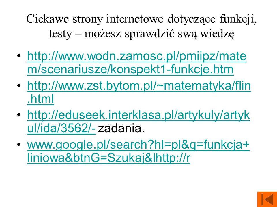 Ciekawe strony internetowe dotyczące funkcji, testy – możesz sprawdzić swą wiedzę