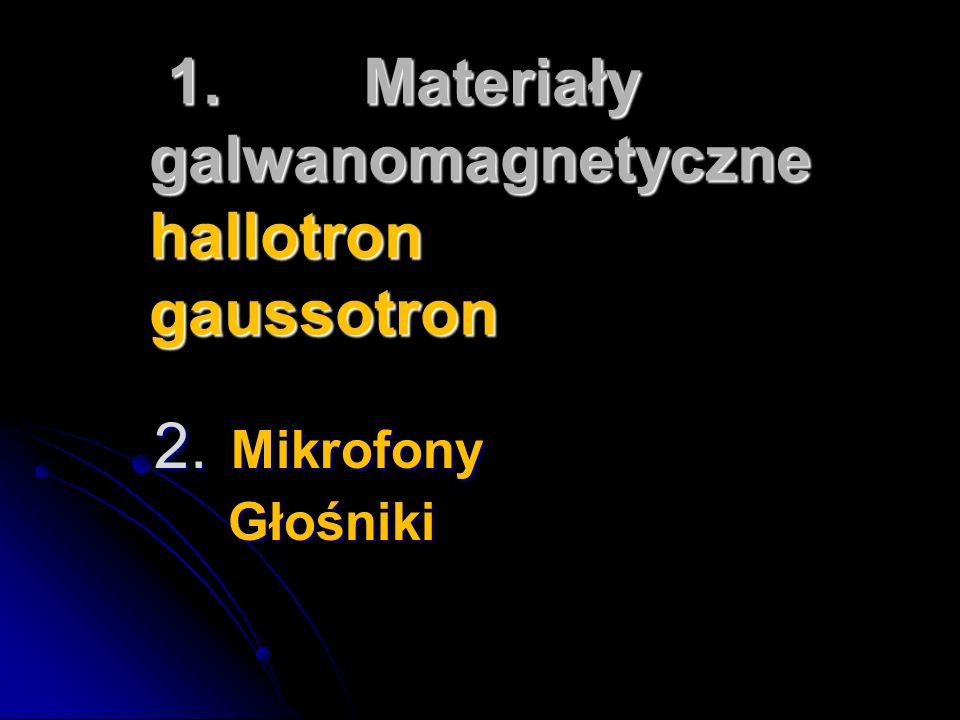 1. Materiały galwanomagnetyczne hallotron gaussotron