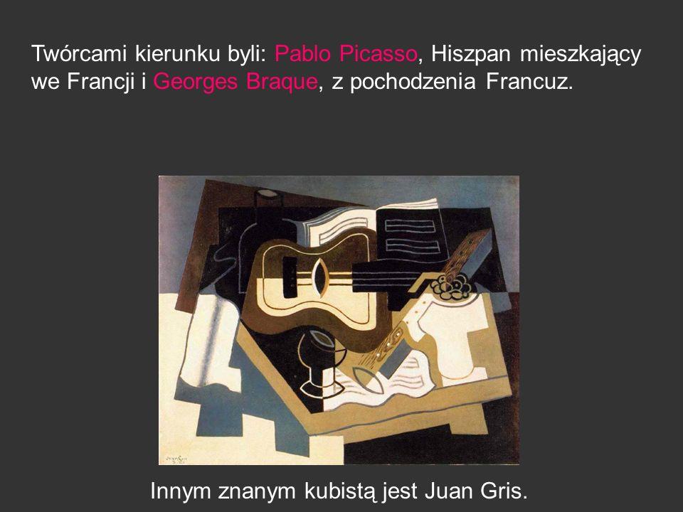 Innym znanym kubistą jest Juan Gris.
