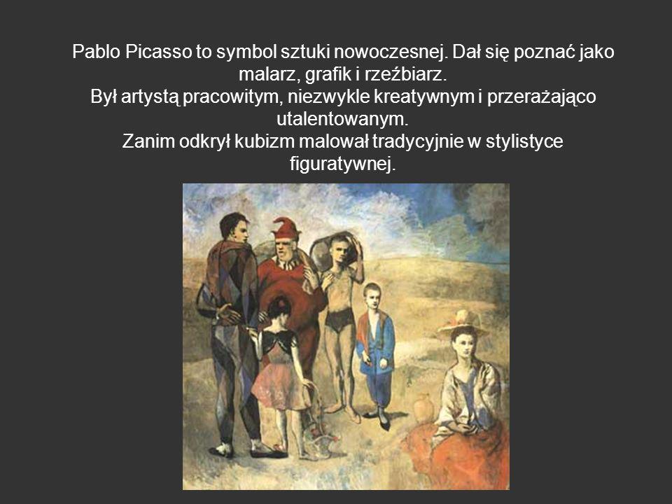 Zanim odkrył kubizm malował tradycyjnie w stylistyce figuratywnej.