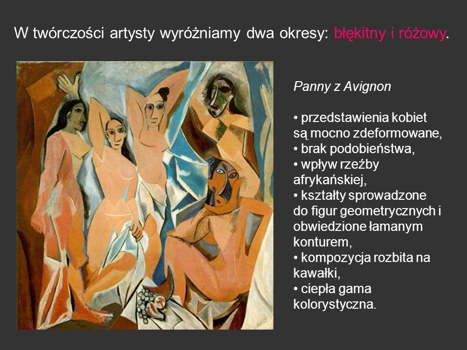 W twórczości artysty wyróżniamy dwa okresy: błękitny i różowy.