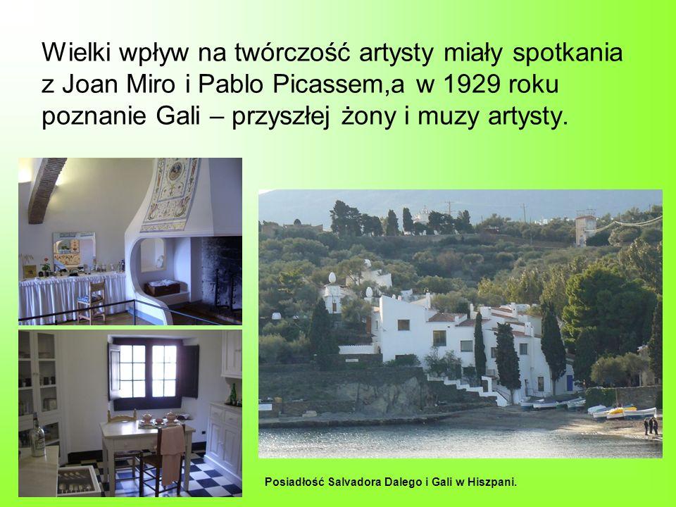 Wielki wpływ na twórczość artysty miały spotkania z Joan Miro i Pablo Picassem,a w 1929 roku poznanie Gali – przyszłej żony i muzy artysty.