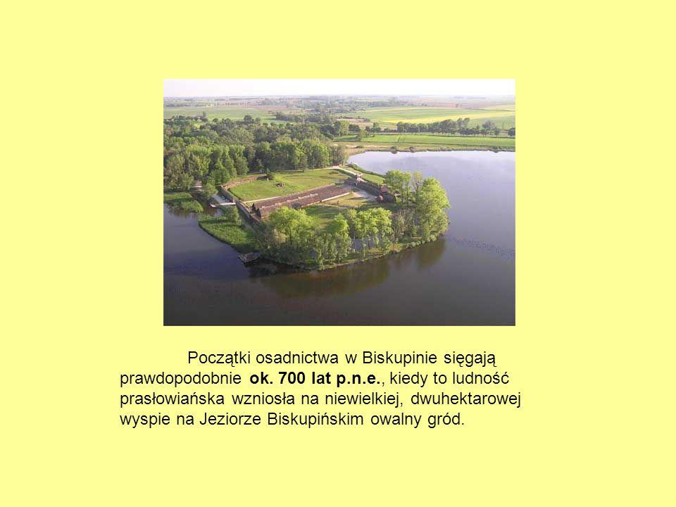 Początki osadnictwa w Biskupinie sięgają prawdopodobnie ok. 700 lat p