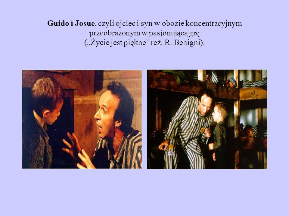 """Guido i Josue, czyli ojciec i syn w obozie koncentracyjnym przeobrażonym w pasjonującą grę (""""Życie jest piękne reż."""