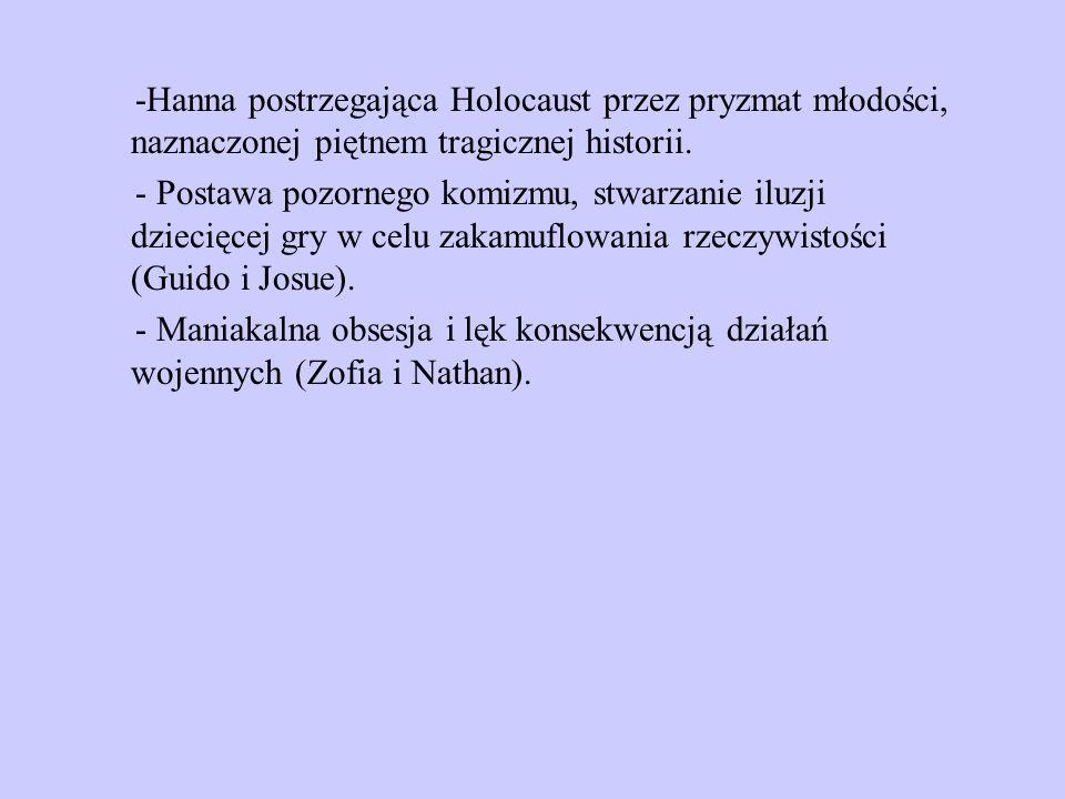 -Hanna postrzegająca Holocaust przez pryzmat młodości, naznaczonej piętnem tragicznej historii.