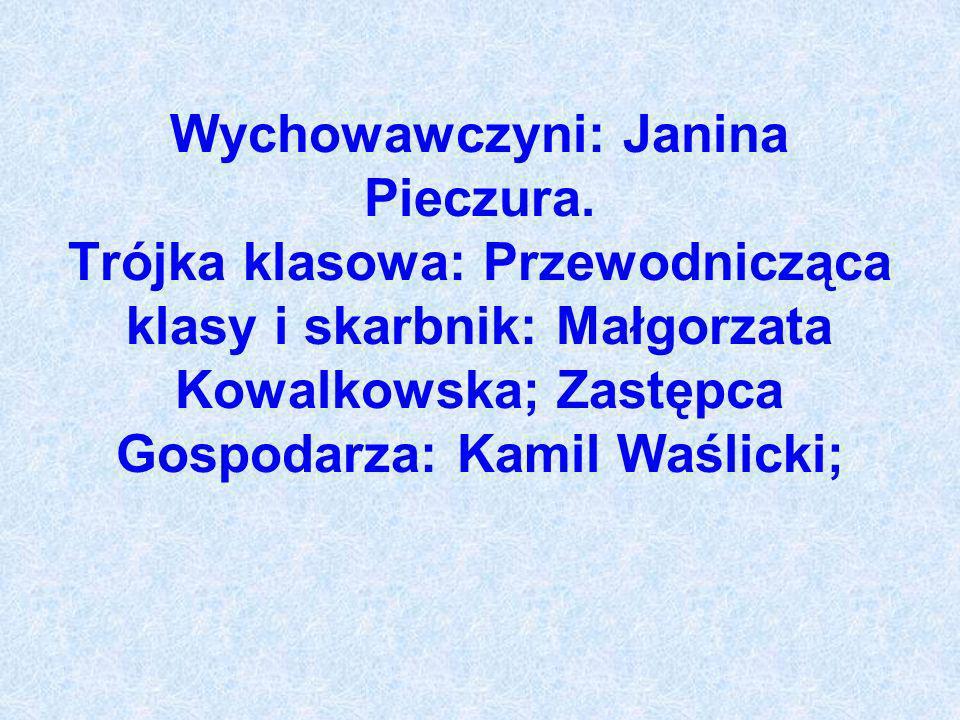 Wychowawczyni: Janina Pieczura
