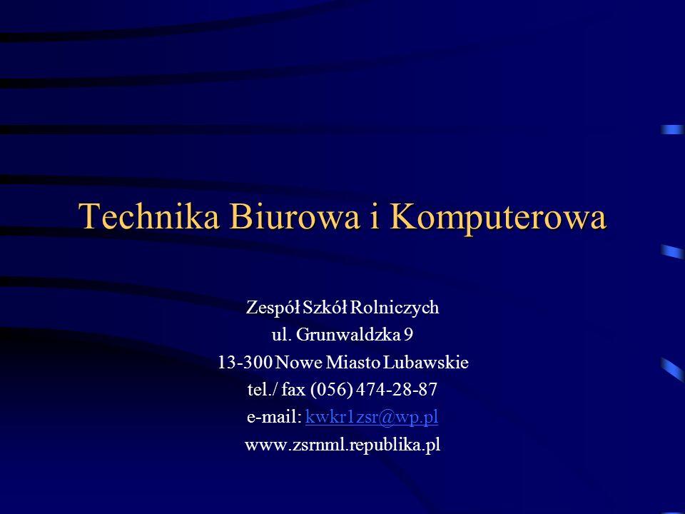 Technika Biurowa i Komputerowa