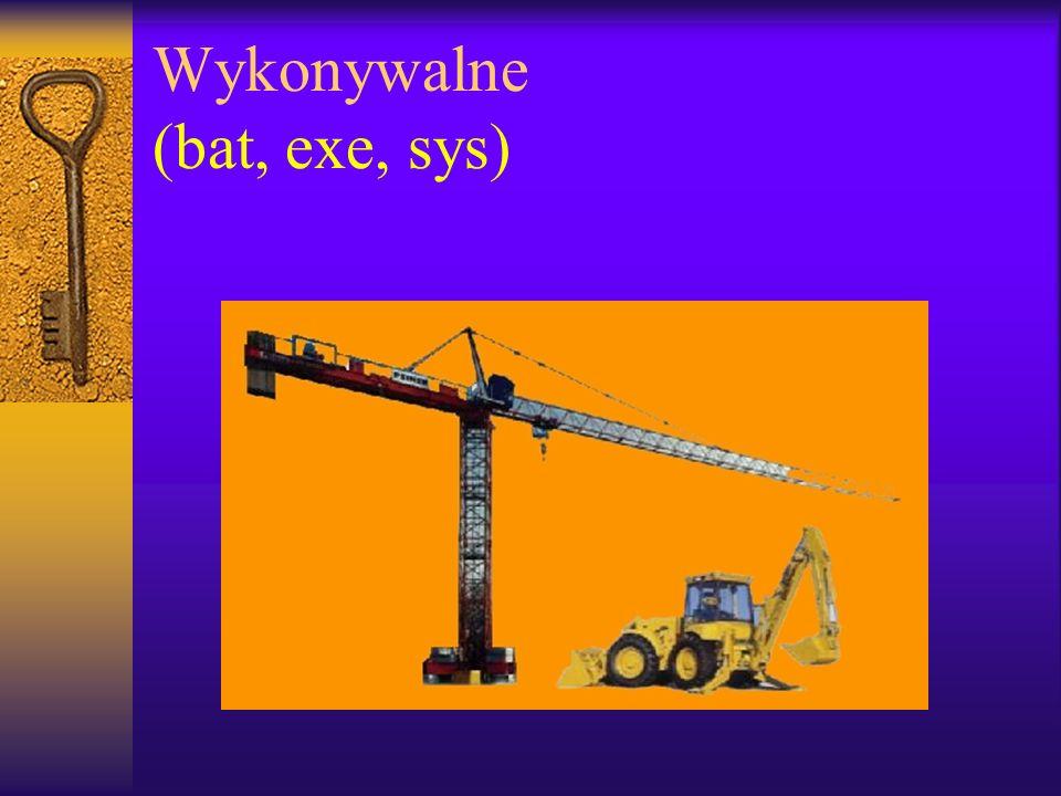 Wykonywalne (bat, exe, sys)