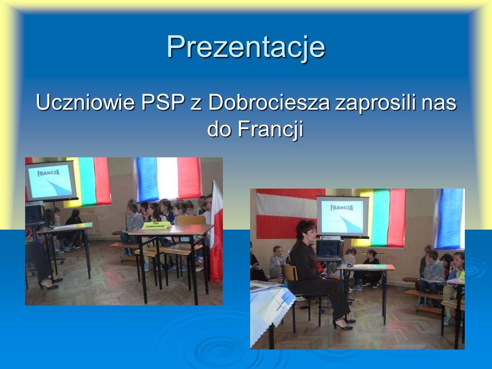 Uczniowie PSP z Dobrociesza zaprosili nas do Francji