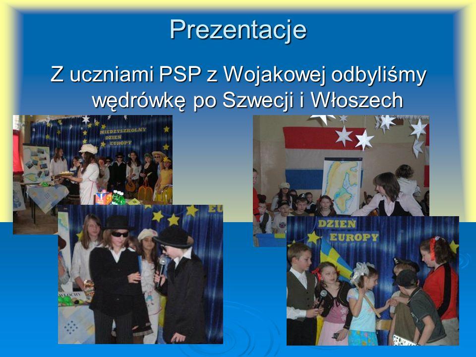 Z uczniami PSP z Wojakowej odbyliśmy wędrówkę po Szwecji i Włoszech